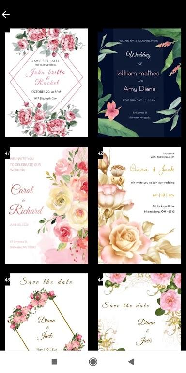 Invitation maker 2020 Birthday & Wedding card Free  poster 6