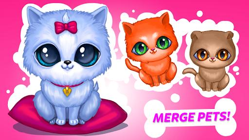 Merge Cute Animals: Cat & Dog  screenshots 1