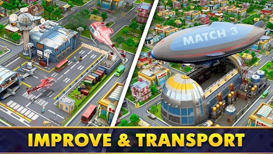 Mayor Match: Town Building Tycoon Mod Apk (Endless Lives/Boosters) 3