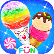Candy Ice Cream Cone - Sweet Rainbow Dessert Games