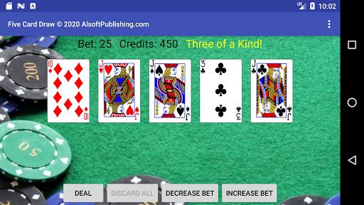Five Card Draw Poker  screenshots 5