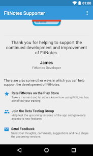 FitNotes Supporter 2