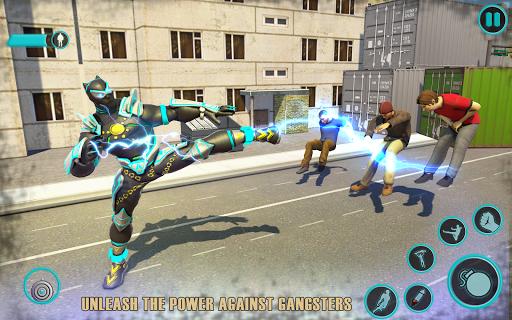 Flying Panther Robot Hero: Robot Black Hero Games  screenshots 2
