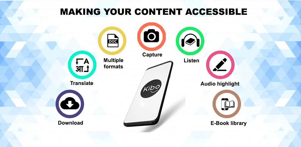 Captura de Pantalla 2 de Kibo: Accessibility for all (Blind & Low-vision) para android