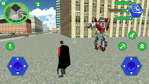 Flying SuperHero Rope Vegas Rescue apkpoly screenshots 3