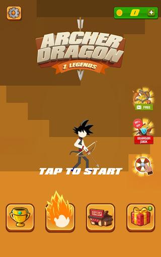 stickman archer - dragon legends offline screenshot 1