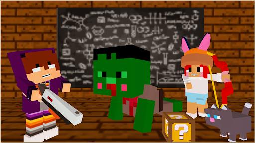 Monster school 3 Herobrine vs zombie apocalypse  screenshots 1