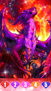 Dragon color by number: Coloring games offline