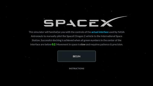 Space X Dragon To ISS Docking Simulator 2.2.1 screenshots 1