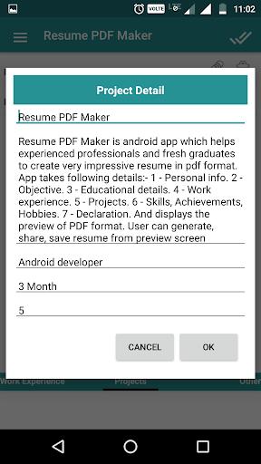 Resume PDF Maker / CV Builder 1.20 Screenshots 7