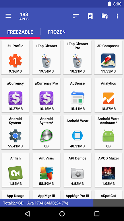 AppMgr Pro III (App 2 SD, Hide and Freeze apps)  poster 2