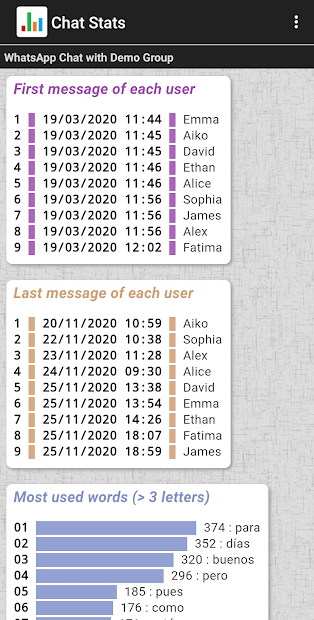 Imágen 7 de Chat Stats para WhatsApp para android