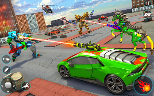 Horse Robot Car Game u2013 Space Robot Transform Wars  screenshots 1
