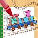 動く!ぬりえワールド - 電車やあおむしが動くお絵かきアプリ - Androidアプリ