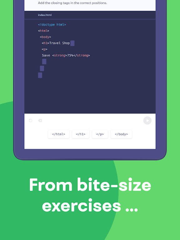 Mimo: Learn coding in HTML, JavaScript, Python poster 9