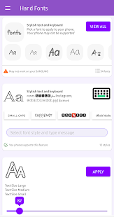 Hand Fonts for FlipFont with Font Resizer 2.2.0 Screenshots 1