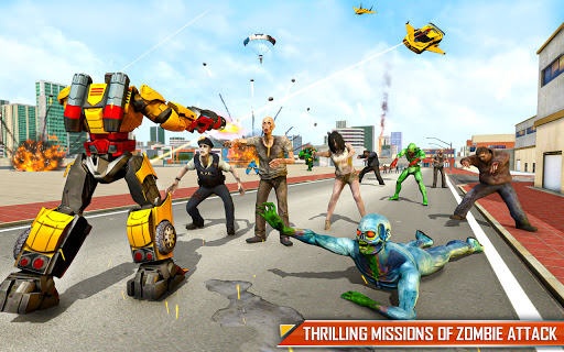 Bus Robot Car Transform: Flying Air Jet Robot Game apktram screenshots 16