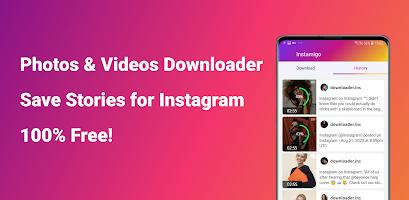 screenshot of Video downloader for Instagram, Story saver