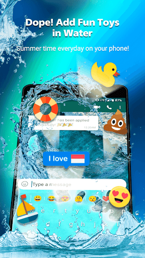 Rockey Keyboard -Transparent Emoji Keyboard GB Yo 1.21.5 Screenshots 1