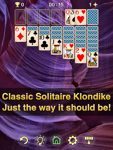 Solitaire Klondike - classic offline card game Apkfinish screenshots 8