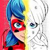 Miraculous Ladybug & Cat Noir. Color by number 대표 아이콘 :: 게볼루션