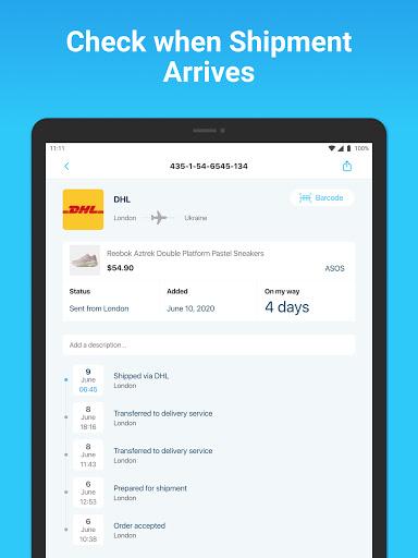 Package Tracker - Fedex, USPS, UPS, Wish, DHL, TNT apktram screenshots 12