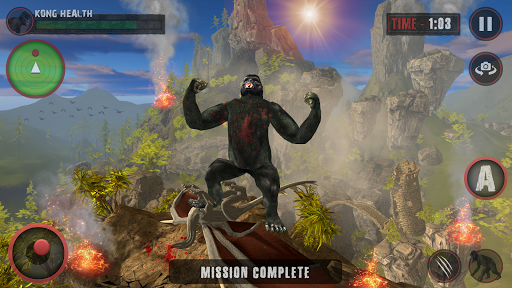 Godzilla & Kong 2021: Angry Monster Fighting Games  screenshots 3