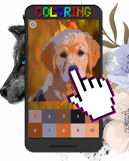 Dog Animal Coloring By Number-Pixel Art  screenshots 6
