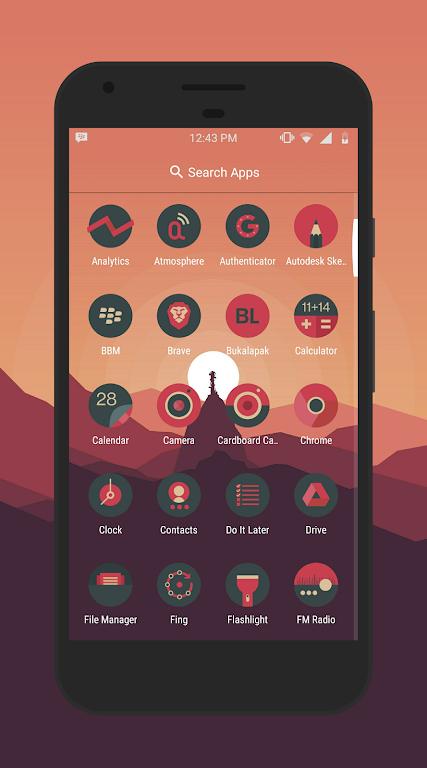 Sagon Circle Icon Pack: Dark UI  poster 1
