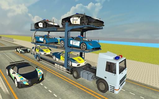 Police Car Transporter Simulator: Truck Driving 3d apkpoly screenshots 1