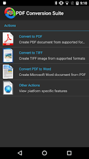 PDF Conversion Suite Screenshot