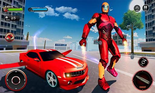 Flying Robot Car Games - Robot Shooting Games 2020 2.1 screenshots 4