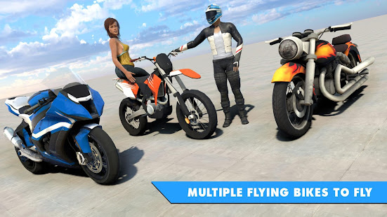 Flying Bike Stunt Racing- Impossible Stunt Games 2.1 Screenshots 5