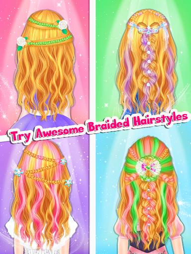 Braided Hairstyle Salon: Make Up And Dress Up  screenshots 11