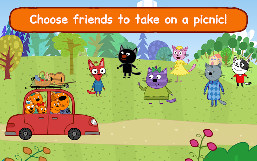 Kid-E-Cats: Picnic with Three Catsu30fbKitty Cat Games  screenshots 12