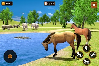 Horse Family Simulator: Horse Jungle Survival Game screenshot thumbnail