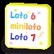 ロト6・ミニロト・ロト7・ビンゴ5、抽せん結果集計グラフ