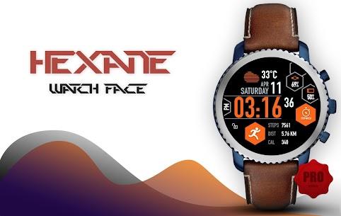 Hexane Watch Face and Clock Live Wallpaper 1