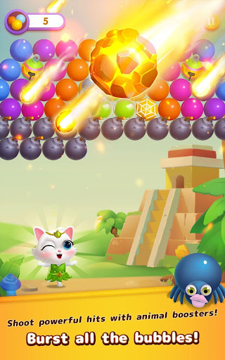 Bubble Shooter: Cat Island Mania 2020 apktram screenshots 16