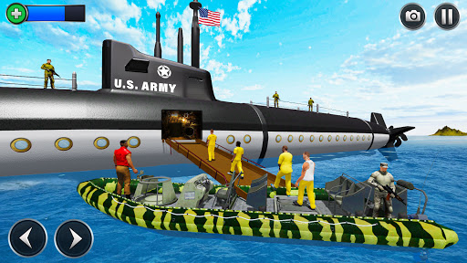 US Army Submarine Driving Military Transport Game screenshots 3
