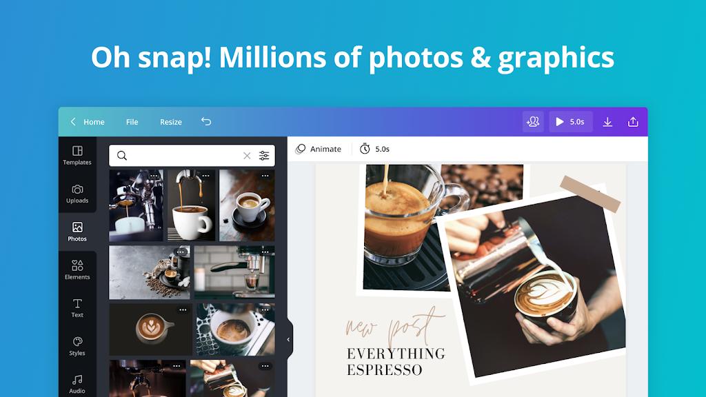 Canva: Graphic Design, Video Collage, Logo Maker poster 14