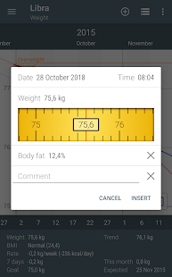 Libra - Weight Manager Screenshot