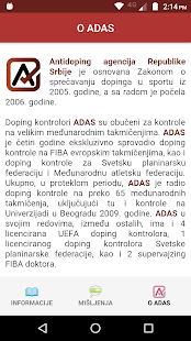 ADAS za sportiste Screenshot