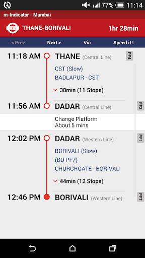 m-Indicator- Mumbai - Live Train Position 17.0.189 Screenshots 6