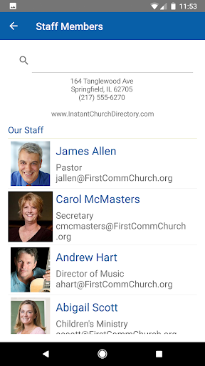 Foto do Instant Church Directory