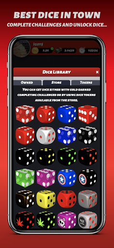 Phone Diceu2122 Free Social Dice Game android2mod screenshots 2