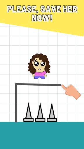 Draw Puzzle & Brain Game - Rescue The Girl Apkfinish screenshots 1