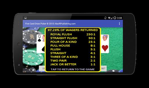 Five Card Draw Poker 1.20 screenshots 8