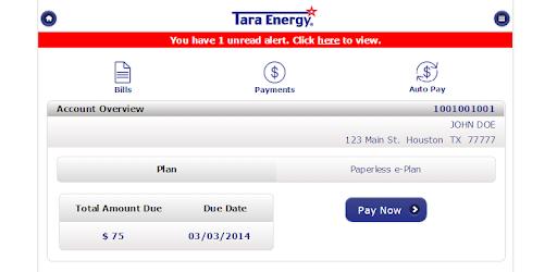 tara energy login