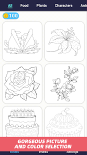 Number Painting - Classic Coloring Book Game